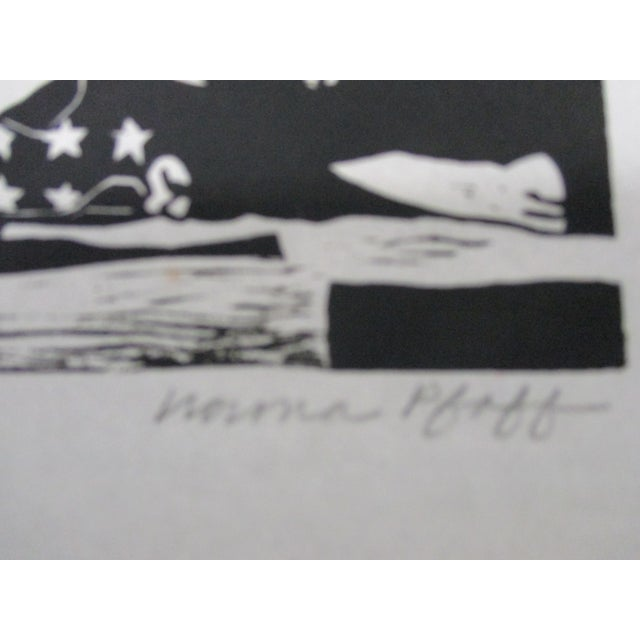 Vintage Black and White Lithograph Titled: Photo Op Signed by the artist Numbered: 55/150 Size: 10.5 x x 0.03 x 9