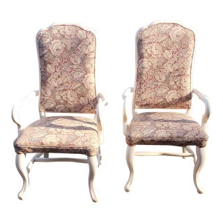 1960s Vintage High Back Patio Chairs- A Pair For Sale