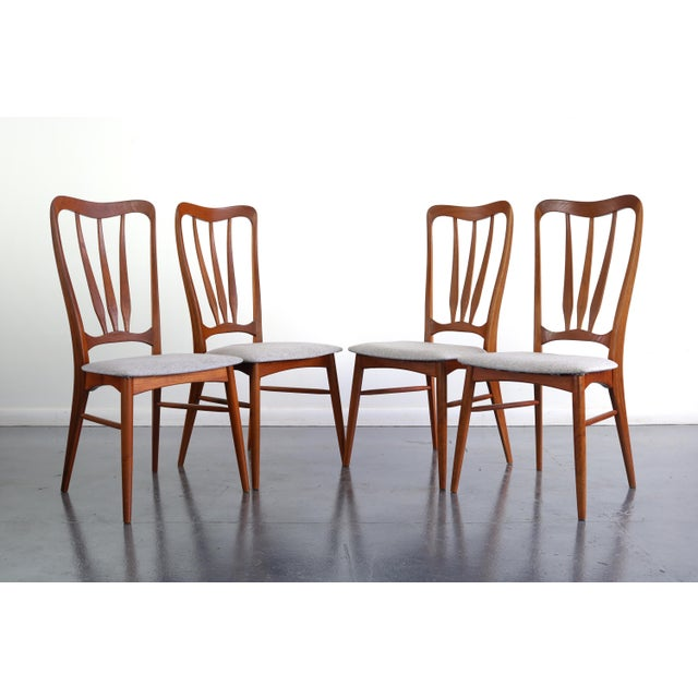 Brown 1960s Vintage Koefoeds Hornslet 'Ingrid' Chairs- Set of 4 For Sale - Image 8 of 8