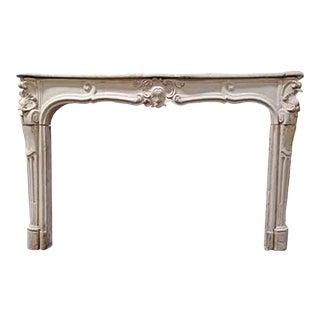 Louis XV Limestone Mantel For Sale