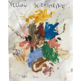 Abstract 'Yellow Submarine' Oil Painting by Sean Kratzert For Sale