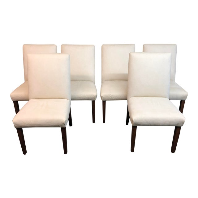 Contemporary Ivory Dining Chairs - Set of 6 For Sale