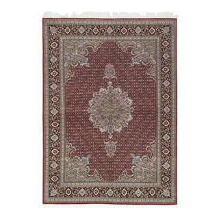 One-Of-A-Kind Persian Hand-Knotted Area Rug, Cherry, 5 X 7 For Sale