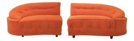 Image of Orange Loveseats