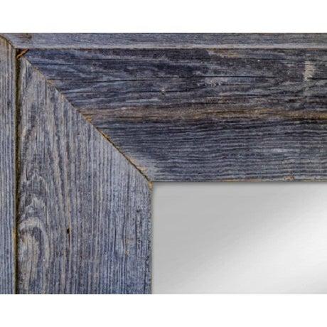 Salvaged Gray Barn Wood Mirror - Image 2 of 3