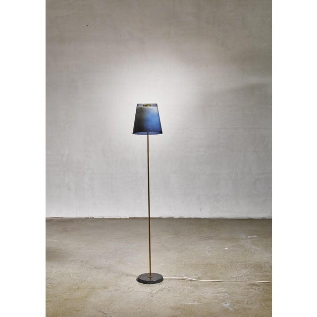 1960s Yki Nummi Floor Lamp With Two Layered Shade for Orno, Finland, 1960s For Sale - Image 5 of 6