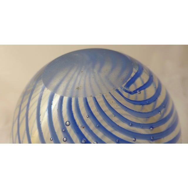Murano Mid Century Glass Blue Swirl Vase - Image 6 of 9