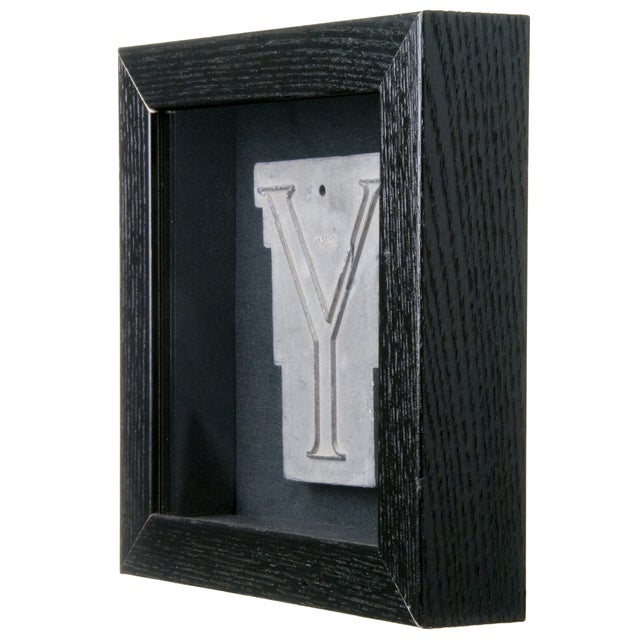 Framed Mid Century Spacerite Steel Letter Y - Image 2 of 2