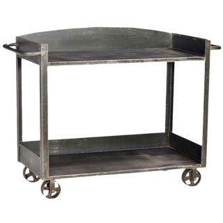 Industrial Iron Trolley Bar Cart