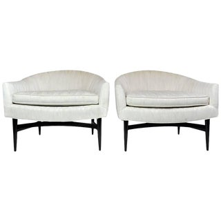 Pair of Lounge Chairs by Lawrence Peabody For Sale
