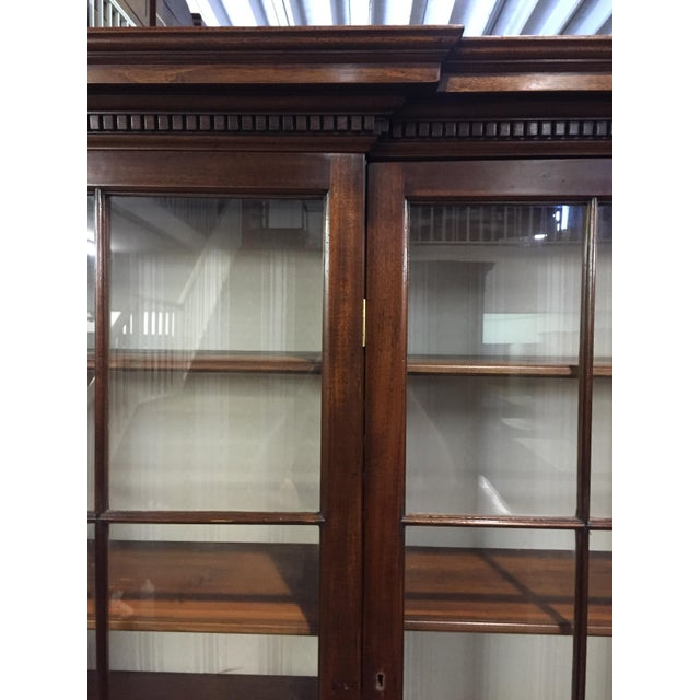 Georgian 19th C. Vintage English Mahogany Breakfront For Sale - Image 3 of 8