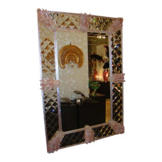 FratelliBarbini - Pink Venetian Mirror For Sale