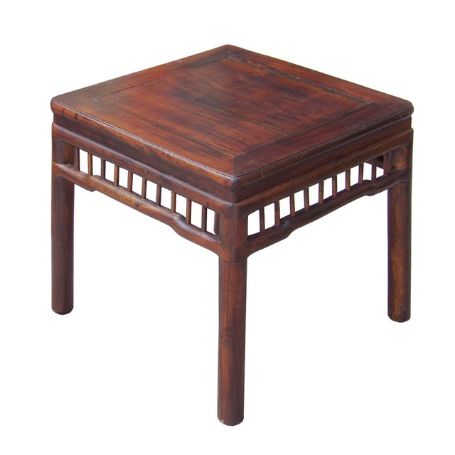 Chinese Handmade Square Side Table - Image 2 of 5