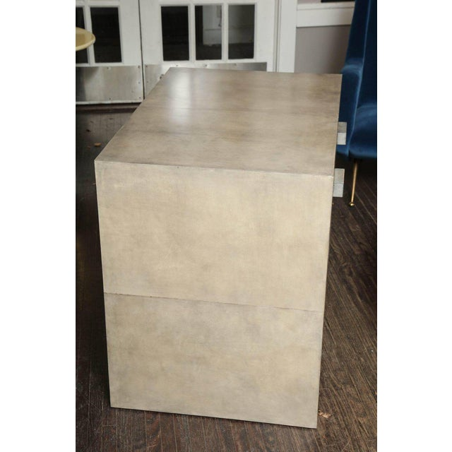 2010s Pair of Parchment Nightstands For Sale - Image 5 of 10