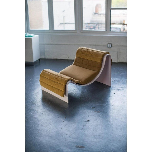 Not Yet Made - Made To Order Minimalist Asa Pingree Knockabout Fiberglass Powder Pink Lounge Chair For Sale - Image 5 of 12
