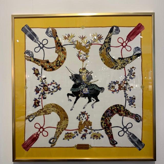 Vintage Hermès Custom Framed Scarf For Sale - Image 9 of 13
