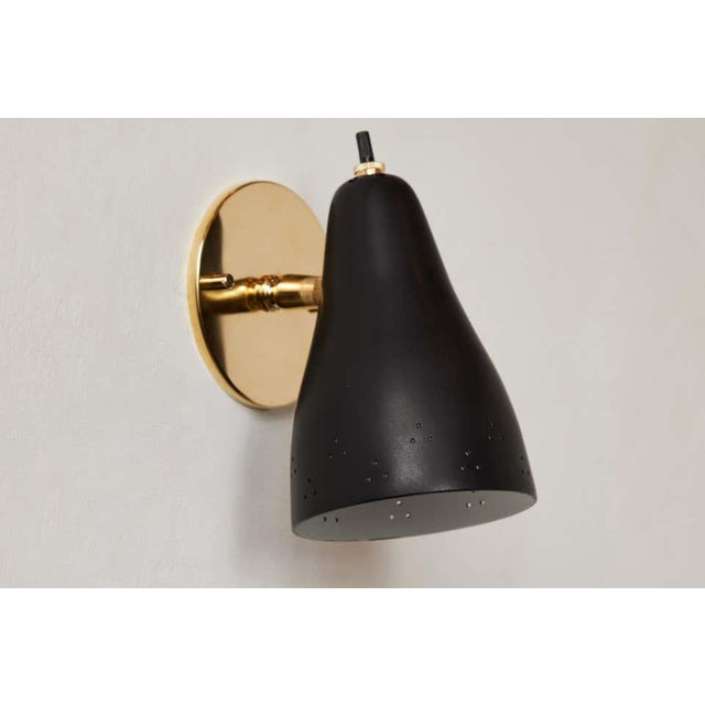 1950s Perforated Italian Wall Lamp Attributed to Giuseppe Ostuni for Oluce For Sale - Image 10 of 13