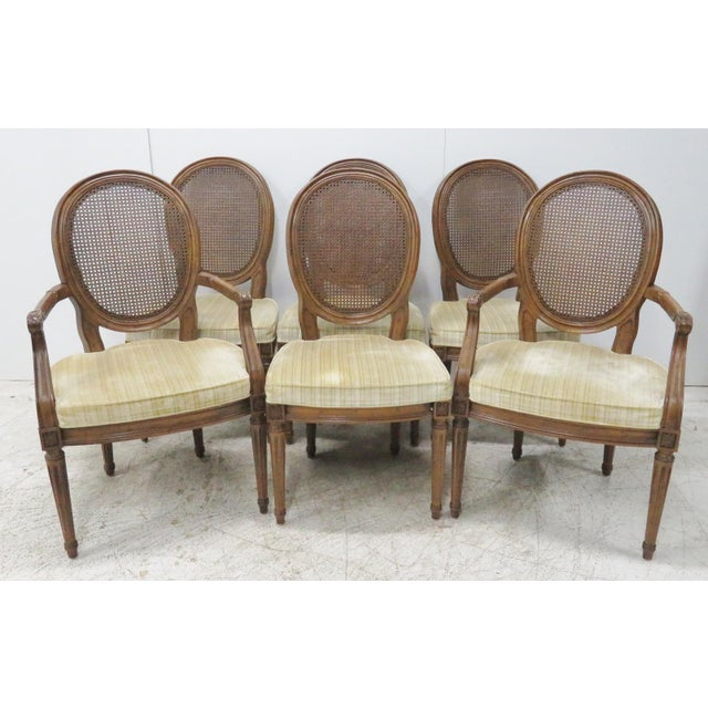 Louis XVI Style Caned Back Dining Chairs - Set of 6 - Image 8 of 8