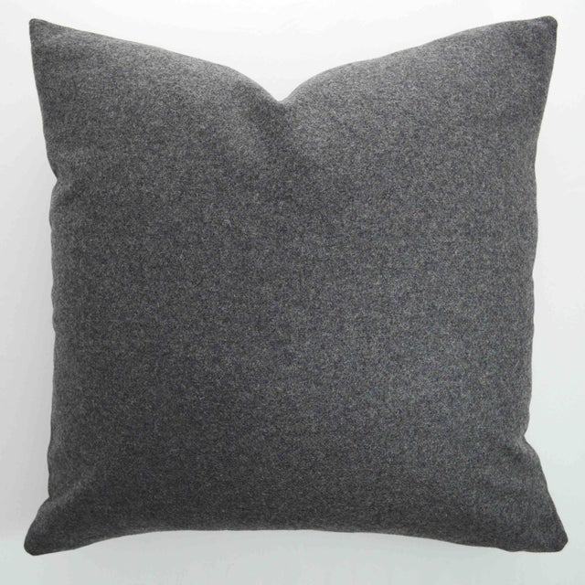 FirmaMenta Italian Gray Sustainable Wool Pillow For Sale In San Francisco - Image 6 of 6