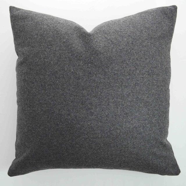 Italian Gray Sustainable Wool Pillow - Image 6 of 6