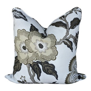 Schumacher Hothouse Flowers Pillow Cover - Dusk Colorway For Sale