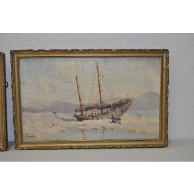Early 20th Century Maritime Paintings by Thomas G. Purvis - a Pair For Sale - Image 5 of 8