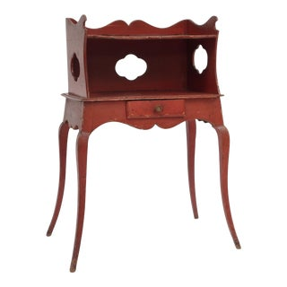 Red Painted Louis XV Style Side Table For Sale