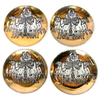 Fornasetti Roman Chariot Coasters - Set of 4
