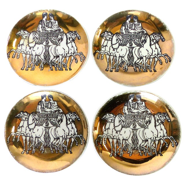 Fornasetti Roman Chariot Coasters - Set of 4 For Sale