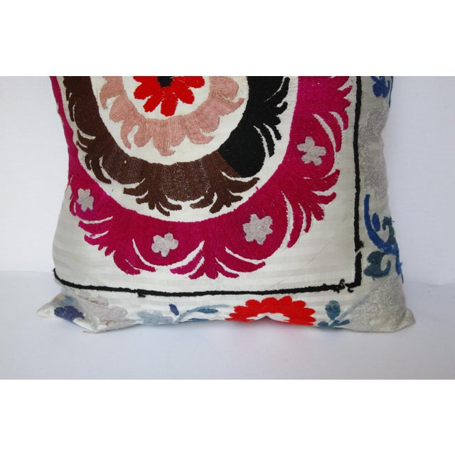 Textile 1970s Boho Chic Decorative Needlework Throw Sofa Pillow Cover For Sale - Image 7 of 12