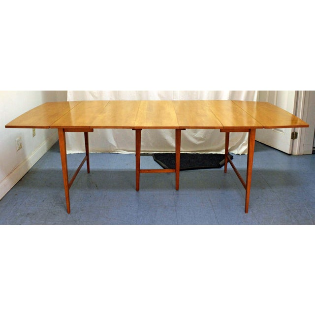 Maple Mid-Century Modern Paul McCobb Planner Group Drop Leaf Dining Table For Sale - Image 7 of 12