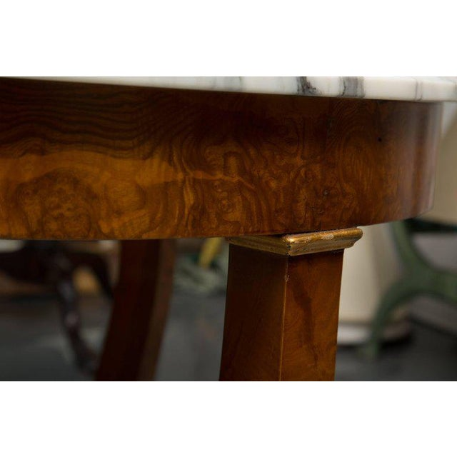 Empire Style Walnut Circular Table For Sale In West Palm - Image 6 of 9