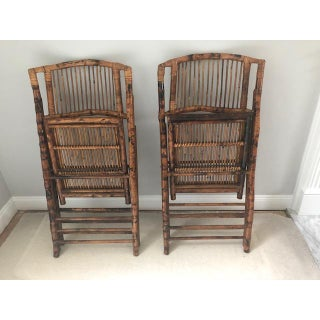 1970s Vintage Rattan Folding Side Chairs- A Pair Preview