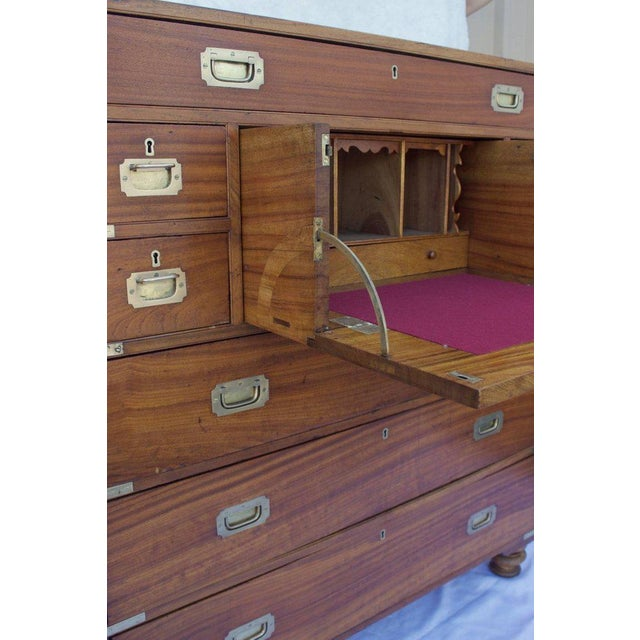 Campaign Late 19th Century Antique British Officers Campaign Chest For Sale - Image 3 of 8