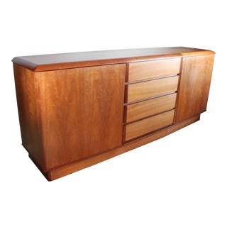 Nordic Furniture of Ontario Danish Style Teak Wood Sideboard Credenza For Sale