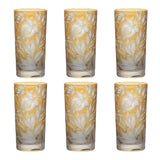 Image of Verdure Highball Glasses, Set of 6, Amber For Sale