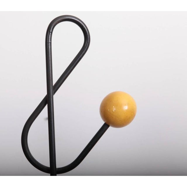 Mid-Century Modern Multicolored Coat Rack Stand by Roger Feraud For Sale - Image 3 of 5