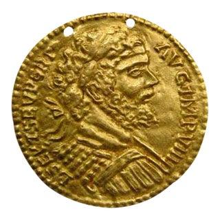 Repousé Gold Roundel Depicting Emperor Septimius Severus For Sale