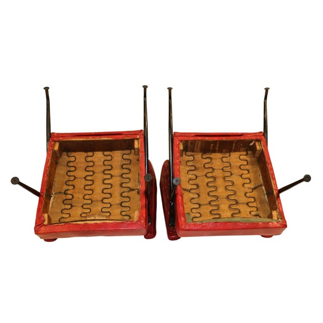 Viko Baumritter Red Lounge Chairs - a Pair - Image 9 of 10