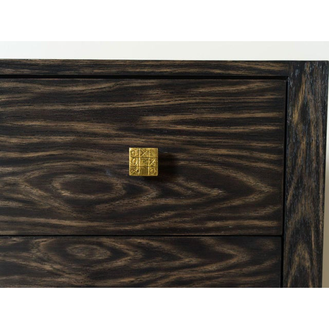 Contemporary Smoked Oak Titan Chest For Sale - Image 3 of 6