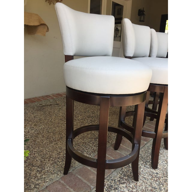 Mahogany Barstools From Charles Stewart- Set Of 3 For Sale In San Francisco - Image 6 of 7