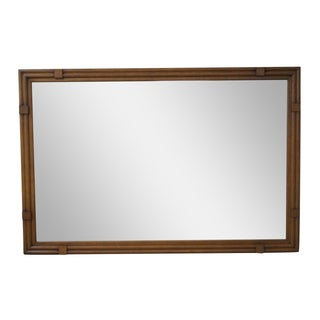Drexel Plaudit Mid-Century Walnut Frame Mirror For Sale