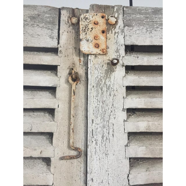Wood Antique French Shutters - a Pair For Sale - Image 7 of 13