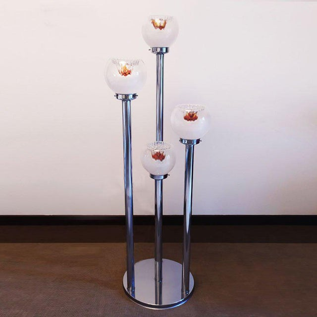1970s Italian Sculptural Murano Glass Floor Lamp by Toni Zuccheri for VeArt For Sale - Image 12 of 12