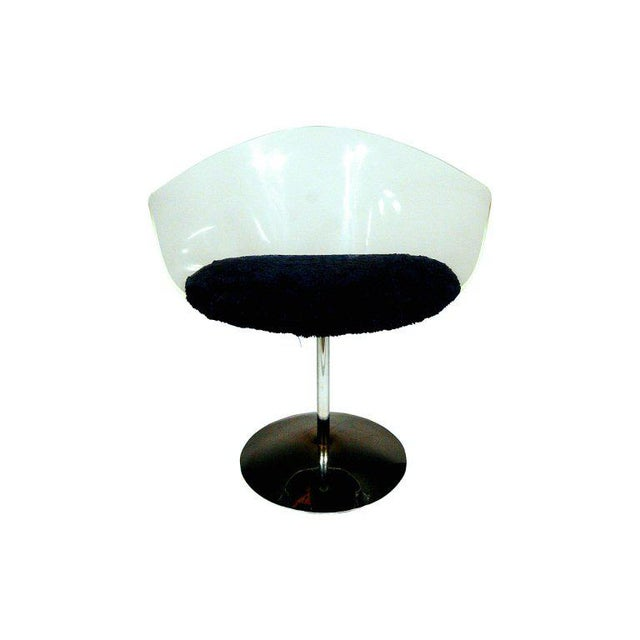 Charles Hollis Jones Lucite and Chrome Swivel Chairs For Sale In Los Angeles - Image 6 of 9