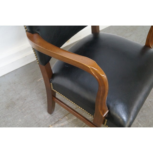 Gunlocke Traditional Black Office Arm Chairs - A Pair - Image 7 of 10