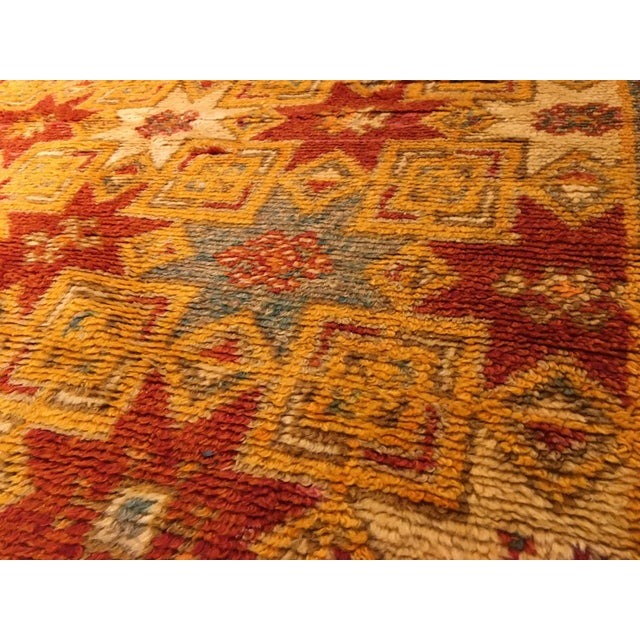 Gold Multi Moroccan rug For Sale - Image 9 of 11