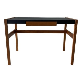 Jens Risom Leather Top Writing Desk For Sale
