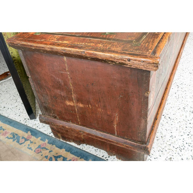 Paint Central EuropeanPainted Trunk For Sale - Image 7 of 9
