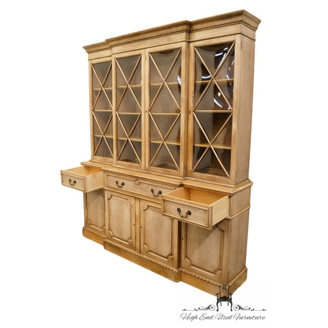 """Saginaw Furniture Country French Regency 72"""" Secretary Display China Cabinet For Sale - Image 9 of 13"""
